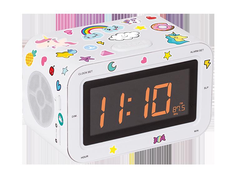dual radio alarm clock rr30bcunicornstick bigben kids bigben en audio gaming smartphone. Black Bedroom Furniture Sets. Home Design Ideas