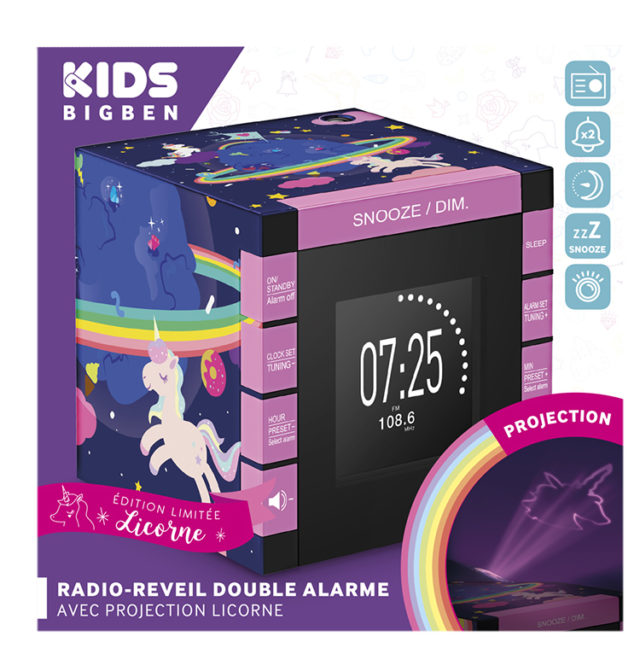 Dual radio alarm clock with projector RR70PUNICORN BIGBEN KIDS – Image  #2tutu#3