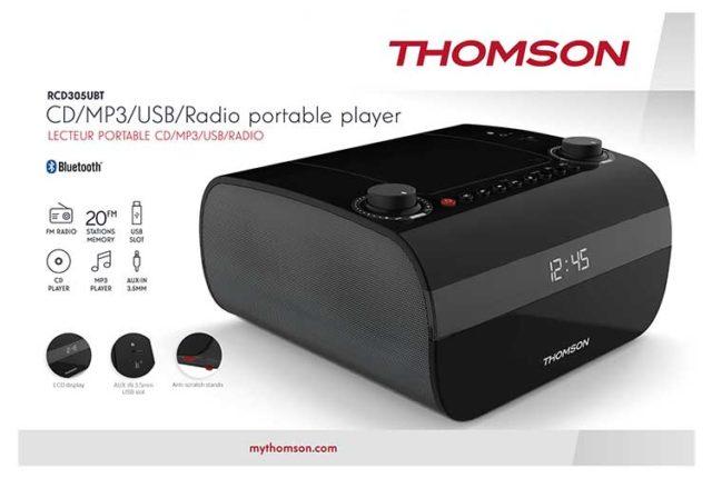CD/MP3/USB/RADIO portable player RCD305UBT THOMSON – Image  #2tutu