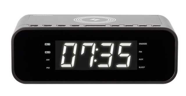 Clock radio with wireless charger CR225I THOMSON – Image
