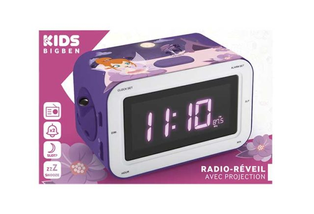 Radio Alarm clock with projection RR30PFAIRY4 BIGBEN KIDS – Image  #2tutu